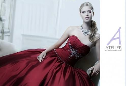 abiti da sposa rossi,vestiti eleganti rossi,